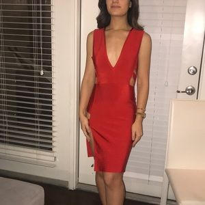 Sexy Red Bebe Dress